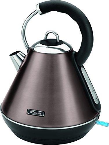 Bomann WKS 5031 CB hervidor de agua, 2200 W, 1.8 litros, Acero Inoxidable, Champán