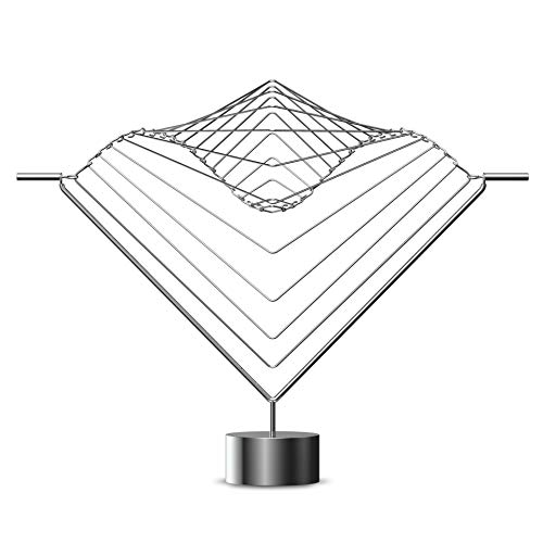 Atellani Square Wave Horizon | Handcrafted in Italy, Kinetic Sculpture Desktop in Stainless Steel, Cool Desk Gadgets and Physics Gifts, Desk Toys for Adults, Magical Calming Art Piece by Ivan Black