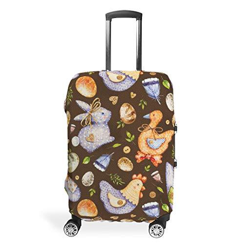 Funda protectora para equipaje de viaje con diseño de conejo de Pascua, elástica, varios tamaños, White (Blanco) - STELULI-XLXT-24