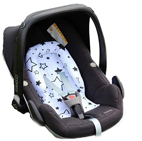 Sweet Baby ** SOFTY DESIGN ** Réducteur universel pour siège auto Maxi Cosi, bassinet, poussette et autre (White Blue Stars)