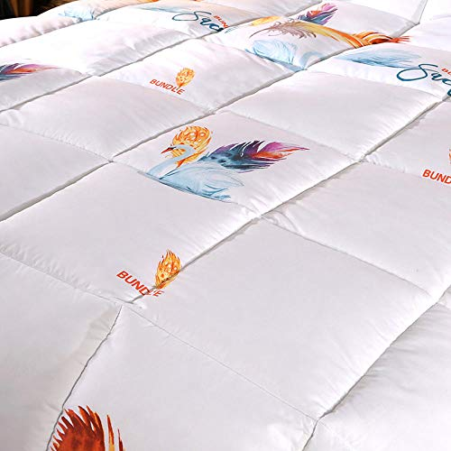CHOU DAN waterproof duvet protector king size,The duvet 95 white goose down gives you a comfortable quilt-150x200cm_Feather white