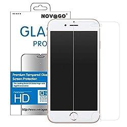 iPhone 7 et iPhone 6S,iPhone 6, NOVAGO® Film écran en verre trempé résistant (Compatible fonction 3D Touch)