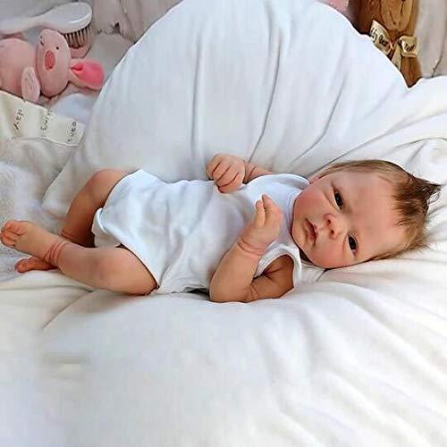 Reborn Baby Doll 18'' That Looks Real Baby Dolls Lifelike Soft Silicone Vinyl Reborn Toddler Girl Birthday Gift Boys Girls Toys