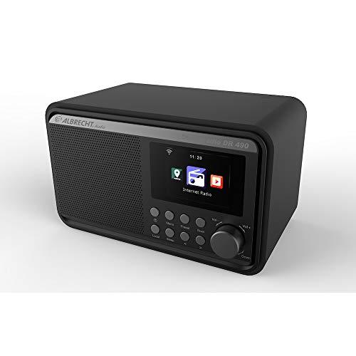 Albrecht DR490 Hybridradio mit Farbdisplay, Internet, DAB+, UKW, Radiosteuerung via App, Farbe: schwarz