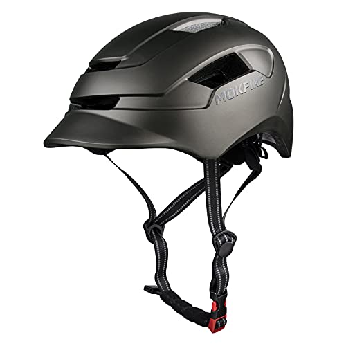 Casco de Bicicleta para Adultos con luz Trasera Ajustable Casco de Bicicleta...