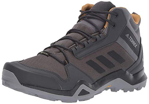 adidas outdoor Men's Terrex AX3 MID GTX Hiking Boot, Grey Five/Black/Mesa, 10.5 M US