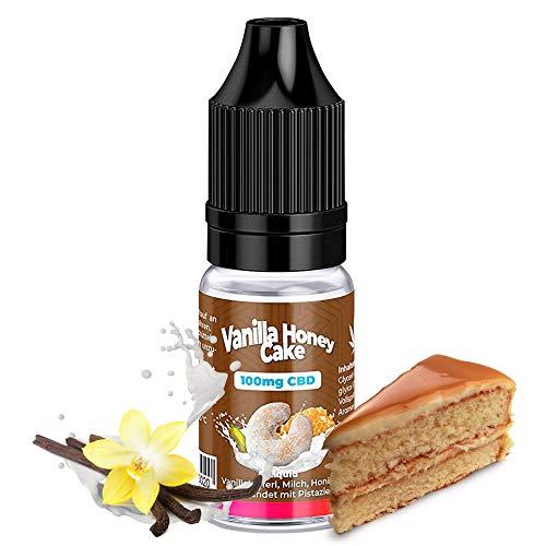 E-Zigarette Full Spectrum CBD Liquid - 100mg Vollspektrum Vanila Honey Cake Aroma Geschmack - Cannabis Liquid ohne Nikotin für E-Zigaretten & E-Shisha von KDM