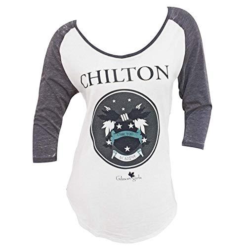 Gilmore Girls Y Camiseta del raglán de las mujeres grande gris