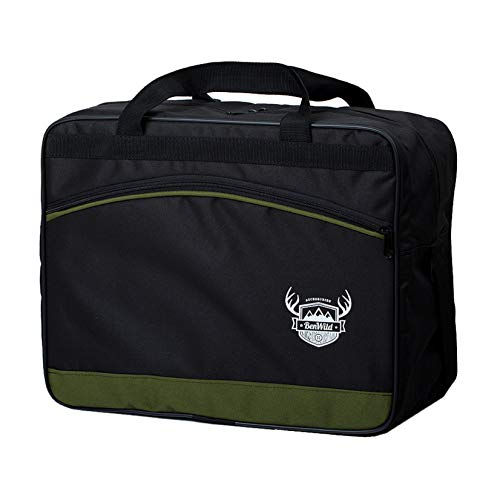 BambiniWelt24 Reisetasche HANDGEPÄCK Boardgepäck Bordcase 40x20x25 40x30x20 Ryanair WIzzair (Olive (klein))