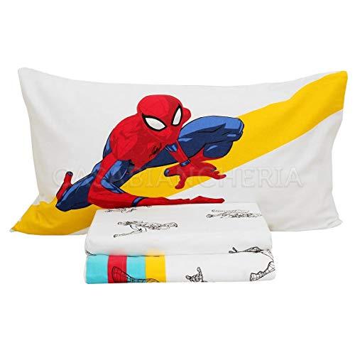 Caleffi Spider Man Colors Completo Lenzuola, Flanella, Unica, Singolo