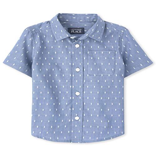 아이들의 장소 BABY BOYS `와 TUDLER DOBBY 버튼 다운 셔츠