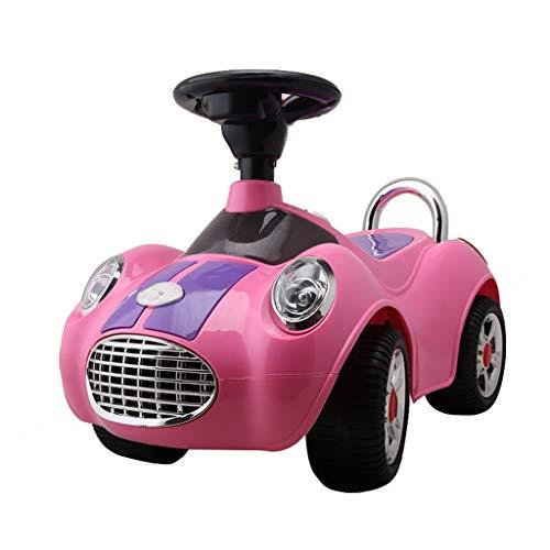 Kinder Twist Car 1-3 Jahre alten Kinder Roller mit Musik Walker Spielzeugauto können Menschen Swinging Yo Auto sitzen Xuan - worth having (Color : Pink)