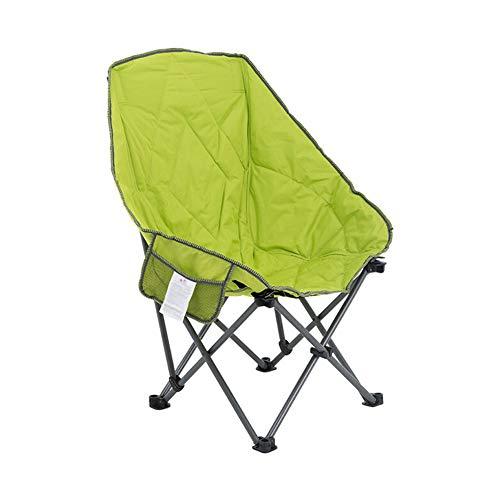 V-Camp Moon - Silla reclinable Plegable para Silla de Playa, para Exteriores, para Adultos, en la Parte Trasera, para esbozar, para Barbacoa, para Acampar, portátil, Plegable (Verde)