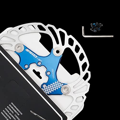 Disco de Freno de Disco de Bicicleta, 140/160/180/203mm Bicicleta de montaña Flotante Disco de Freno Centro de Bloqueo Accesorios de Bicicleta, Unisex, Estándar,Blue,160MM