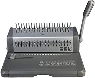 Binding machine with 21 hole punch from Deli gray color