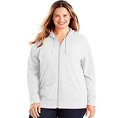 Just My Size Slub-Cotton Full-Zip Women's Hoodie from