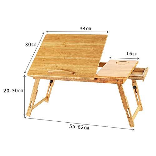 Los escritorios de ordenador portátil de bambú ajustable del ordenador portátil notebook soporte de mesa escritorio de la tabla del ordenador portátil for la cama Sofá cama Bandeja Mesa de picnic Mesa