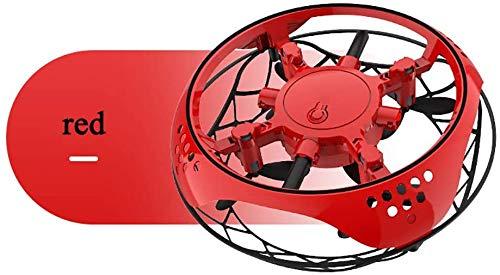 Inductionfour vliegtuigen mini-drone UFO slimme speelgoed, automatische obstakel vermijden, met LED-verlichting, de beste vakantie Giftforboys en meisjes,rood