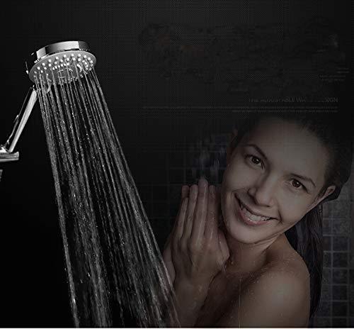 KEKEYANG Alcachofa 3 Funciones computadora de mano ducha de ahorro de agua de pulverización de ABS con acabado cromo de la mano del baño Showerhead accesorios de baño duchas de mano