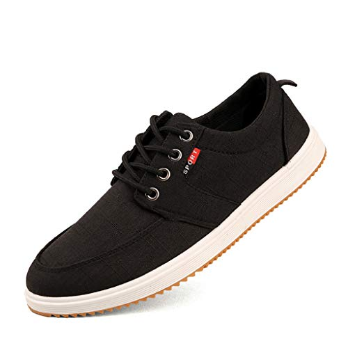 Yumimi88 Neue Mode Sneaker Sportschuhe Herrenmode Lässig Runde Zehe Canvas Lace-Up Sport Laufschuhe Board Schuhe