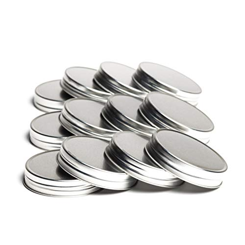 Wide Mouth Metal Mason Jar Lids (Silver)