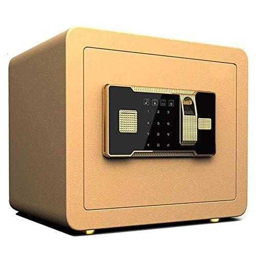 Die Safes, Home Office Fingerabdruck Passwort Safe Hochwasserdicht, Feuerbeständige, Drillproof und einbruchsichere Wand Sicher Smart Home Schlüsseltresor Tyrant Gold-Lock-Box