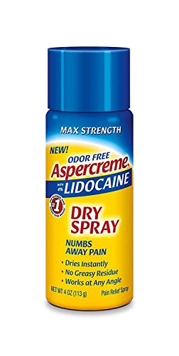 Aspercreme Odor Free Max Strength Lidocaine Pain Relief Dry Spray, 4 Ounces