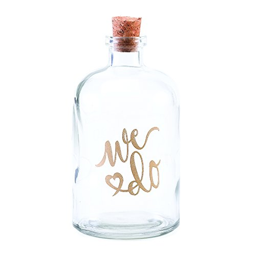 "Hortense B. Hewitt 55632 We Do Sand Ceremony Decanter, 5.5"", Transparent"