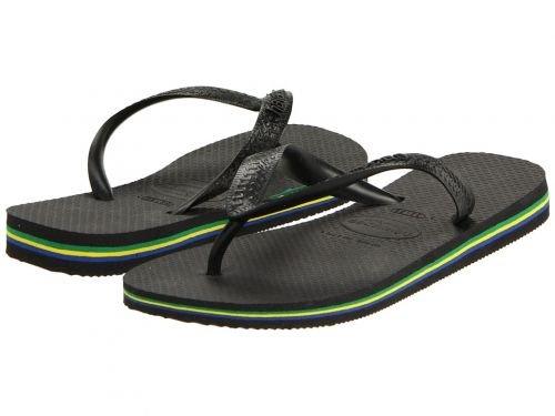 [ハワイアナス] レディース 女性用 シューズ 靴 サンダル Brazil Flip Flops – Black 41/42 Brazil (US Men's 9/10, Women's 11/12) M [並行輸入品]