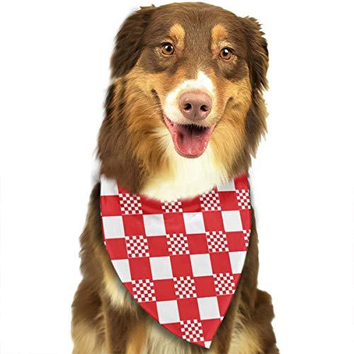 N/D rood en wit tafelkleed aangepaste hond hoofddoek felgekleurde sjaals schattige driehoek slabbetjes accessoires voor huisdier honden