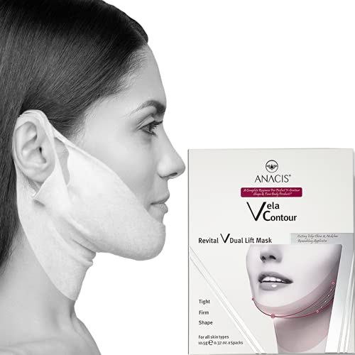 Face Firming Slimming Double Chin Sagging Skin Reducing V Line Contour Lift Neck Tightening Mask. Anacis - 5 Masks
