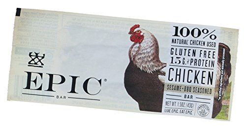 EPIC Chicken Sesame BBQ Protein Bar, 1.5oz
