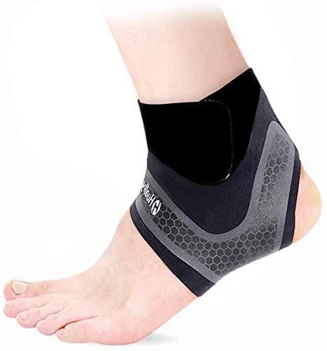 Hually Sprunggelenkbandage, 【1 Paar】 Knöchelbandage für Damen Herren, Fußbandage Unterstützt alle Größen, Fussgelenkbandage, Fußgelenkstütze stützt den Fuß beim Sport, Knöchelverstauchung Arthritis