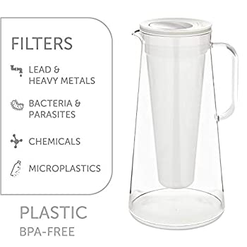 LifeStraw Home Filter Pitcher Unisex-Adult, White, 7cup