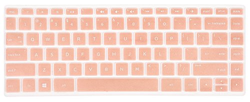 CaseBuy Keyboard Cover for HP Pavilion x360 14M-BA 14M-CD 14M-DH 14-BA 14-BF 14-cm 14-CF 14-DF 14-DK 14-DS 14-DQ Series 14M-DH0003DX 14M-DH1001DX 14M-DH1003DX 14 inch HP Laptop Skin, Rose Gold