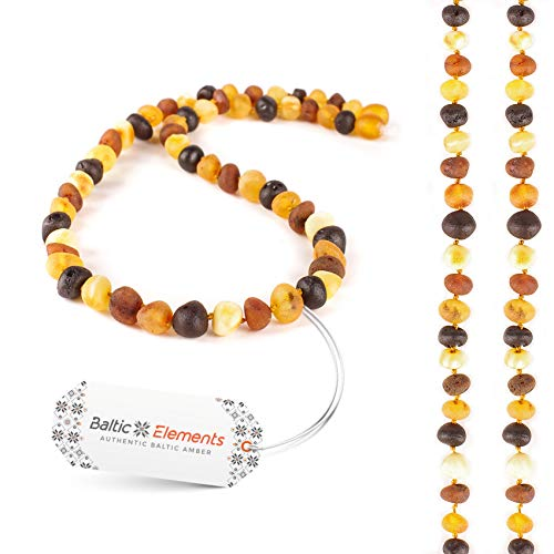 Baltic Elements Amber Necklace for Adults Women & Men,