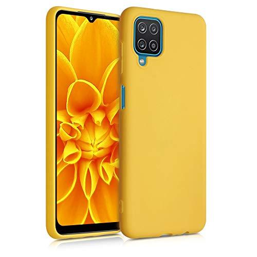 kwmobile Custodia Compatibile con Samsung Galaxy A12 - Cover in Silicone TPU - Back Case per Smartphone - Protezione Gommata Miele