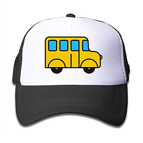 lijied Cutee School Bus Cartoon Kids Mesh Hat Baseball Caps Children Grid Hat Trucker Cap for Boys Girls