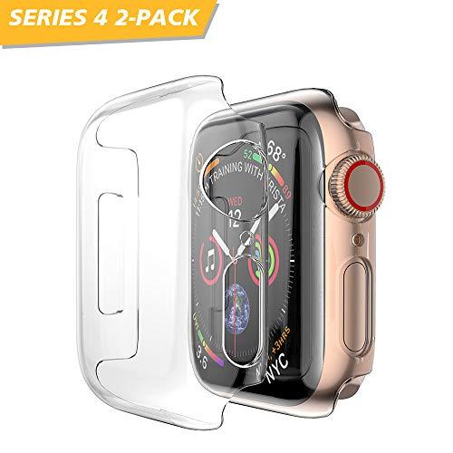 NotoCity 2-Packs für Apple Watch Hülle 44mm Ultradünne PC Schutzhülle Kompatibel mit Apple Watch Series 4/Series 5
