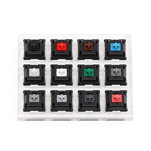 RETYLY アクリルキーボードテスター12クリアプラスチックキーキャップサンプラー Cherry MX スイッチ用