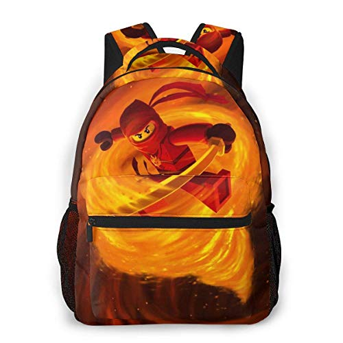 Yuantaicuifeng Ninj-ago Unisex Stylish Backpack for Boys Travel Backpack for Girls