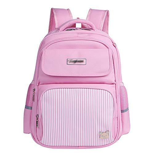 Zaino per bambini Zaino per ragazzi/ragazze Zaino per scuola materna Zaini impermeabili leggeri per zaino Zaini con tracolla (blu, rosa)-Pink