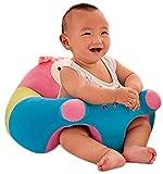 BlueSpace - Sillas de bebé sentado para aprender asiento infantil de peluche, para niños de 6 a 12 meses