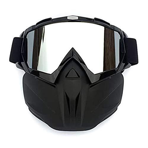 Gafas de Motocicleta con máscara Facial Desmontable Casco A Prueba de Niebla A Prueba de Viento Protección UV Bicicleta ATV MX Gafas para Desierto Offroad Riding Racing Se Adapta a Hombres Mujeres