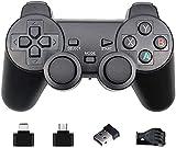 RILLATEK Controlador de juego inalámbrico de 2,4 g para PS3, Gamepad para PS3/PC/Android/TV Box Controlador de juego Joystick para controlador de teléfono con micro USB o tipo C (color 1 unidad)