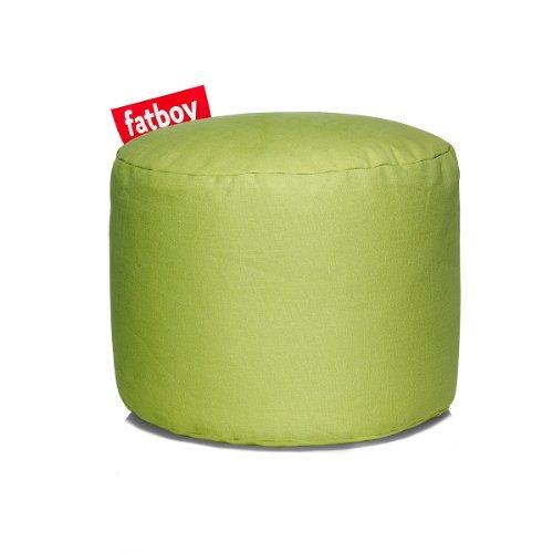 Fatboy® Point Stonewashed limegrün Hocker   Runder Sitzhocker aus Baumwolle   Trendiger Poef/Fußbank/Beistelltisch   35 x ø 50 cm
