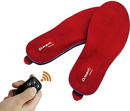 Dr.Warm Beheizbare Einlegesohlen Thermosohlen mit Intelligentem Drahtlose Fernbedienung, USB Wiederaufladbar Schuheinlagen für Skifahren Wandern Angeln Unisex (S 35-40 EU)