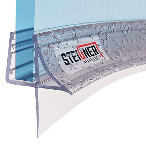 STEIGNER Duschdichtung, 40cm, Glasstärke 6/7/ 8 mm, Vorgebogene PVC Ersatzdichtung für Runddusche, UK09