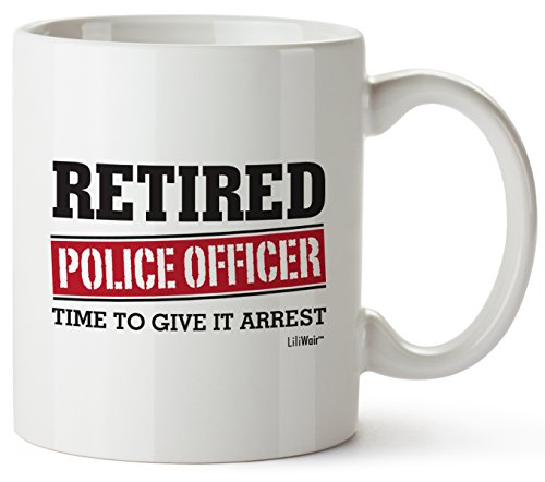 Product Image 1: Retired Police Officer Gifts Mug Funny Christmas Retiring Retirement Gag Gifts for Women Men Dad Mom Retirement Coffee Mug Gift. Retired Mugs for Coworkers Office & Family. Unique Ideas for Her & Him