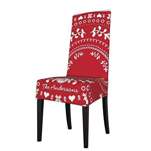 XBSXP Paquete de 2 Fundas para sillas de Comedor extraíbles Fundas Protectoras de Asiento navideñas nórdicas para decoración de sillas de Ceremonia